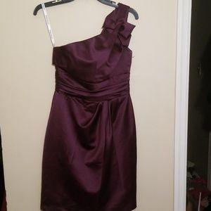 David's Bridal One Shoulder Dress | Size 4